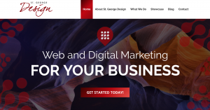 St George Design's homepage. Is it time for a website update for your business?